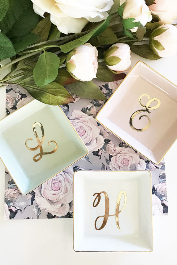 Personalized Initial Ring Dish