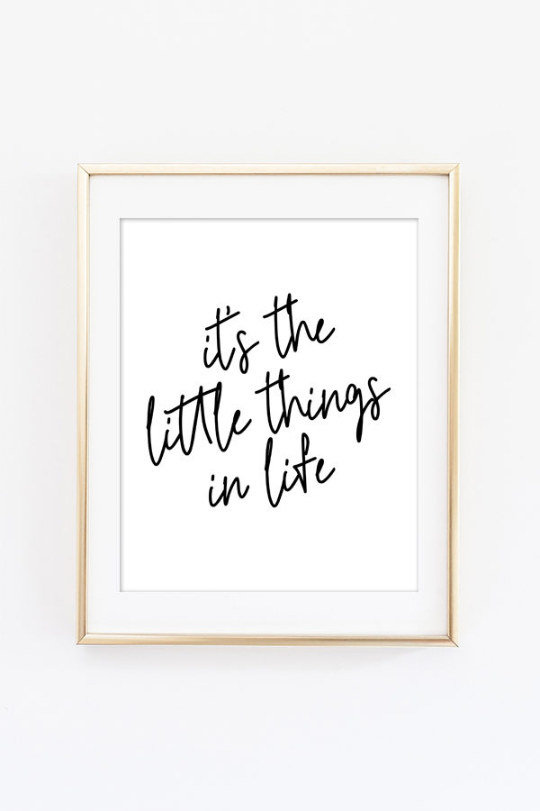 It's the Little Things in Life Wall Art