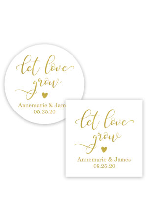 Let Love Grow Favor Stickers