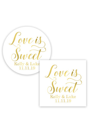 Love is Sweet Favor Stickers