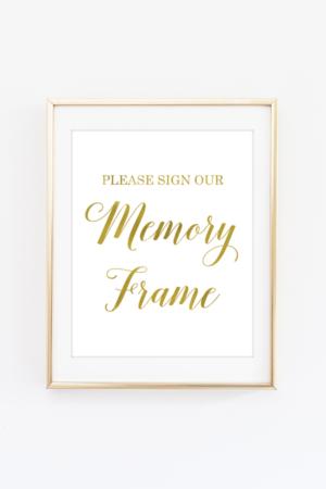 Memory Frame Sign