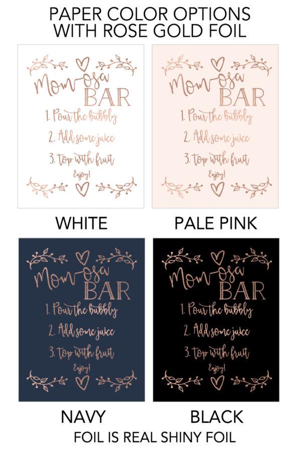 Momosa Bar Sign
