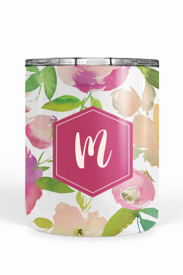 Pink Blossoms Personalized Tumbler