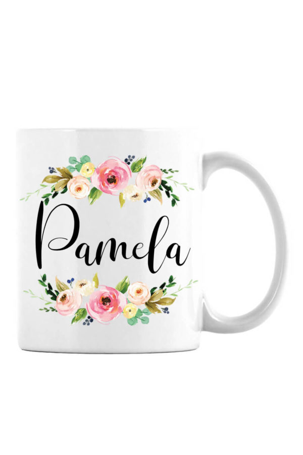 Pink Floral Personalized Mug