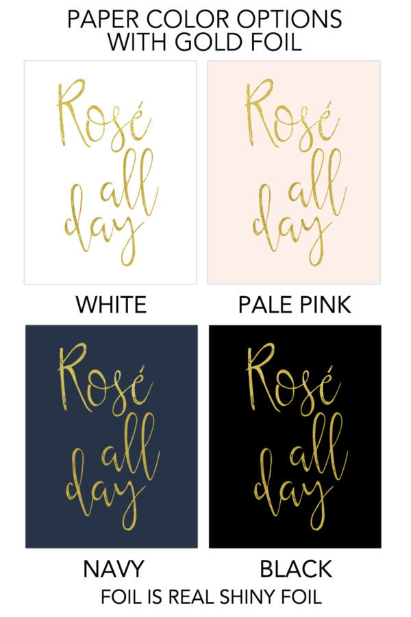 Rose All Day Foil Art Print
