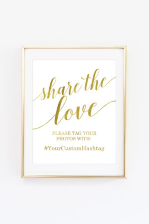 Share the Love Hashtag Sign