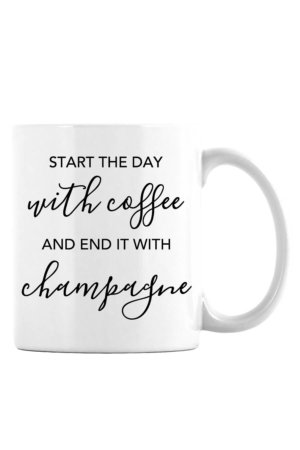Start the Day With Coffee Mug