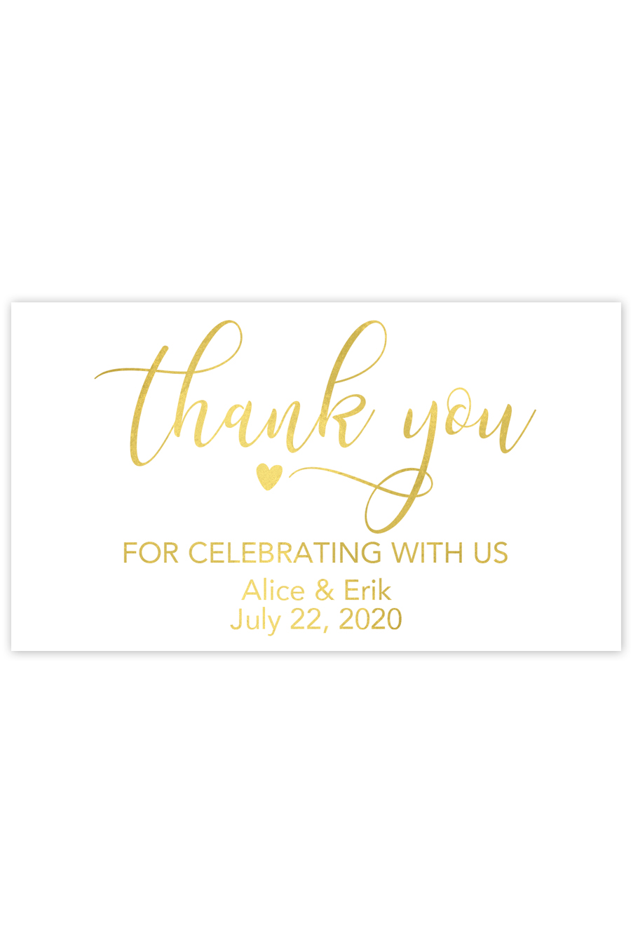 Thank You For Celebrating With Us Mini Champagne Labels