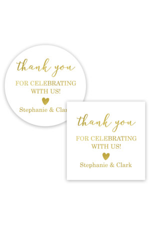 Thank You for Celebrating With Us Favor Stickers