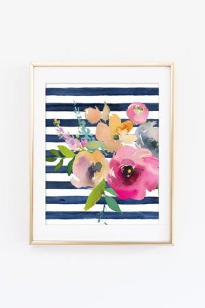 Watercolor Blooms Wall Art