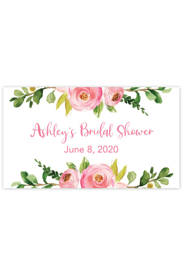 Watercolor Floral Mini Champagne Labels