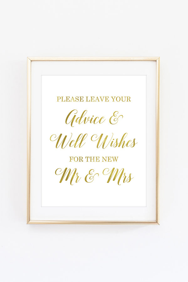 Wedding Advice Sign