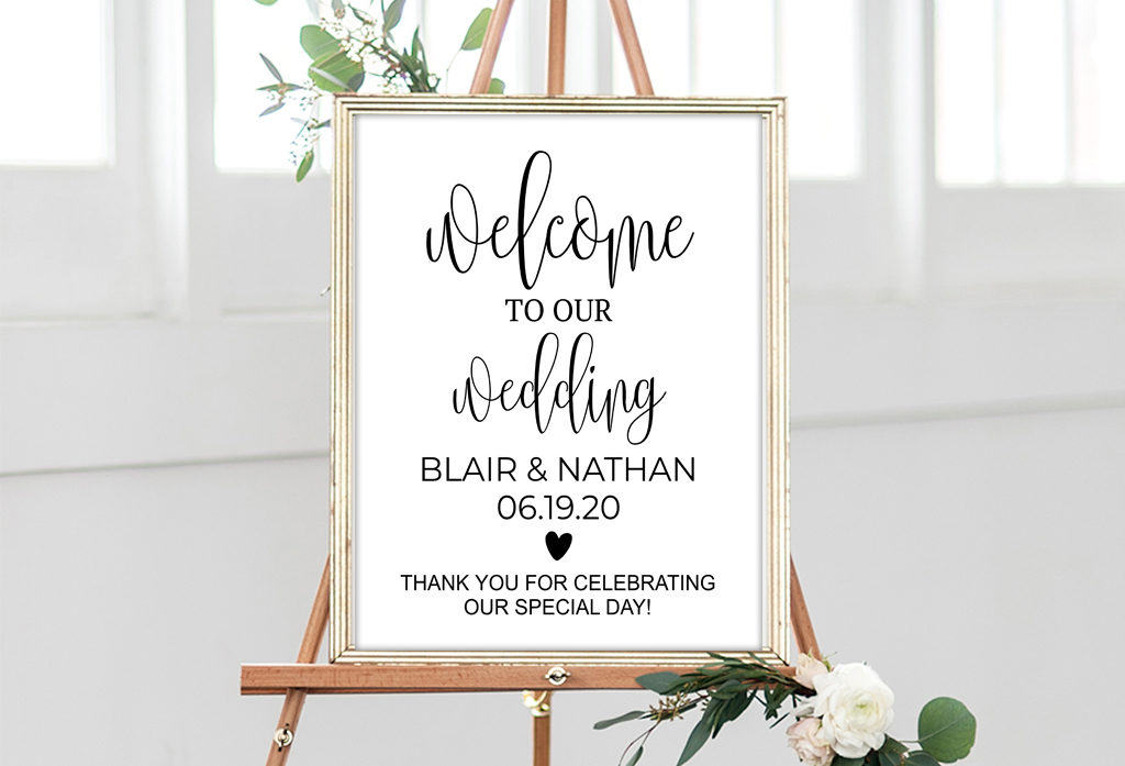 photograph regarding Wedding Signs Printable named Wedding day Symptoms - Foil Marriage ceremony Signs or symptoms, Printable Wedding ceremony Symptoms