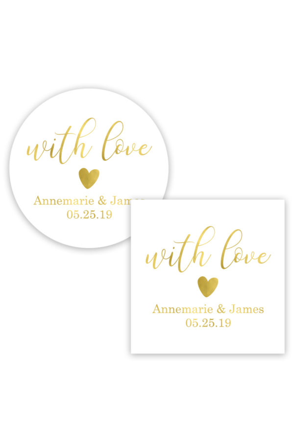 With Love Favor Stickers