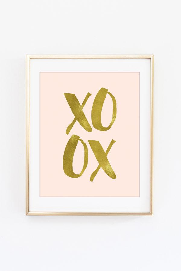 XOXO Foil Art Print