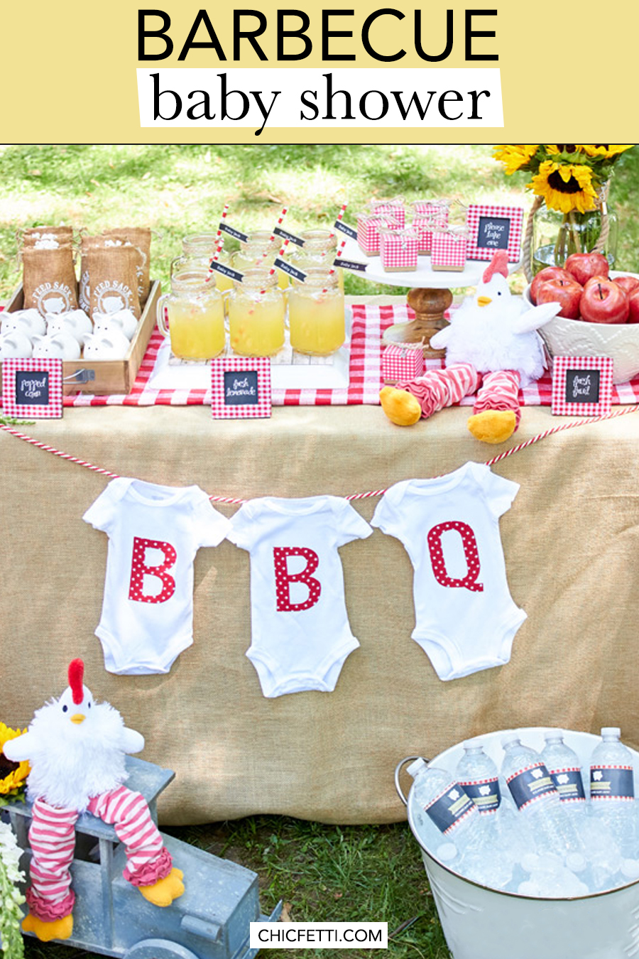 Baby Shower Themes for Girls - Barbecue Baby Shower