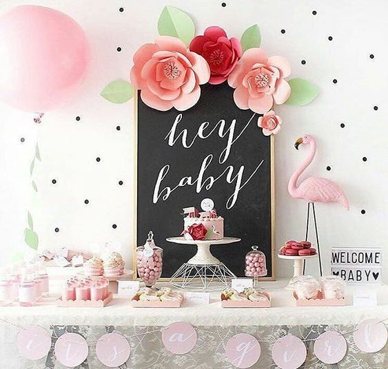 Baby Shower Themes for Girls - Flamingo Baby Shower