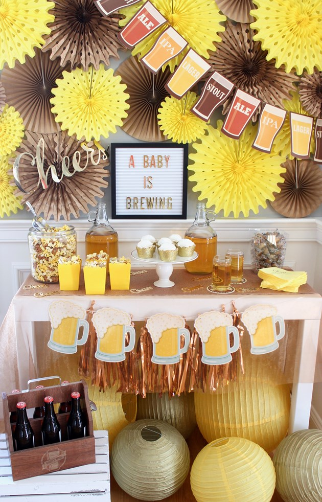 Baby Shower Themes for Girls - Baby is Brewing Baby Shower