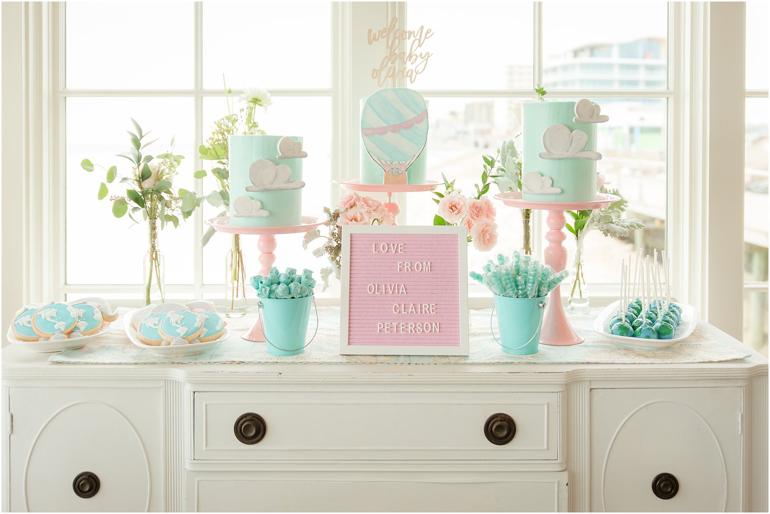 Baby Shower Themes for Girls - Hot Air Balloon Baby Shower