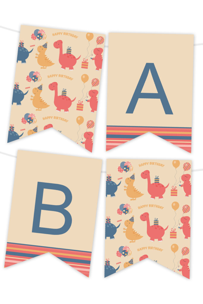Dinosaur Birthday Printable Banner Chicfetti