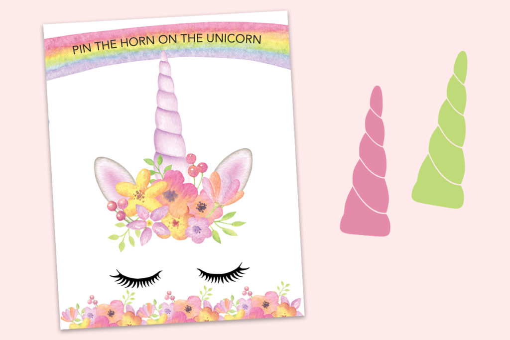 Pin The Horn On The Unicorn Free Printable