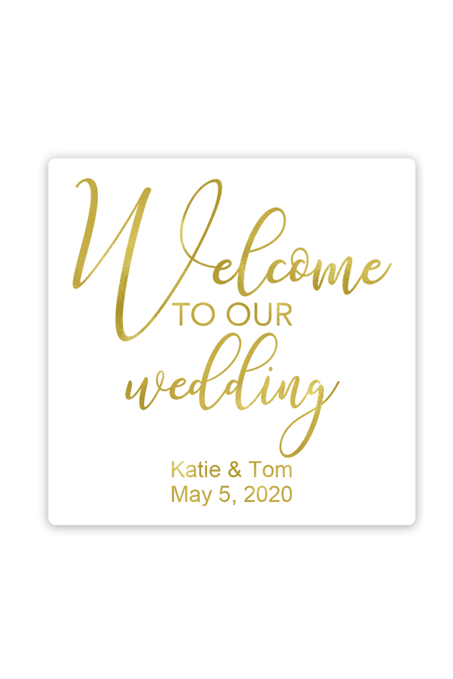 Welcome To Our Wedding Favor Stickers