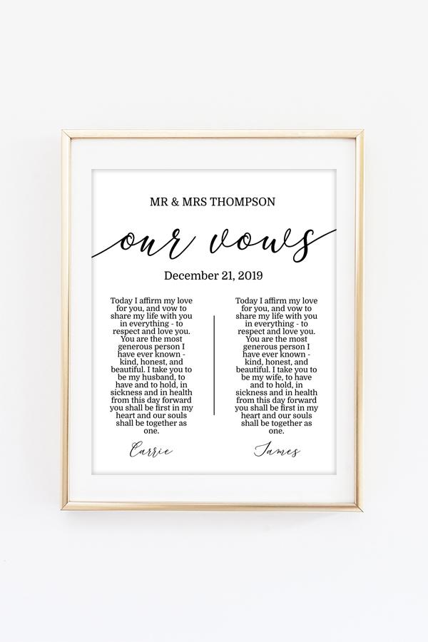 Wedding Vows Printable Art Chicfetti
