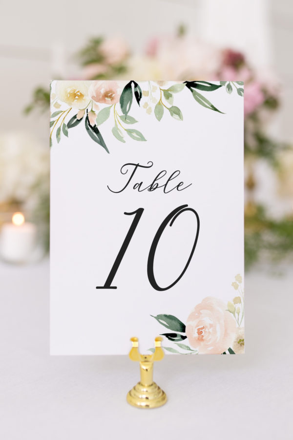 Table Number Template Table Signs Forest Number Card Wedding Template Mountain Wedding Printable Wedding Table Numbers