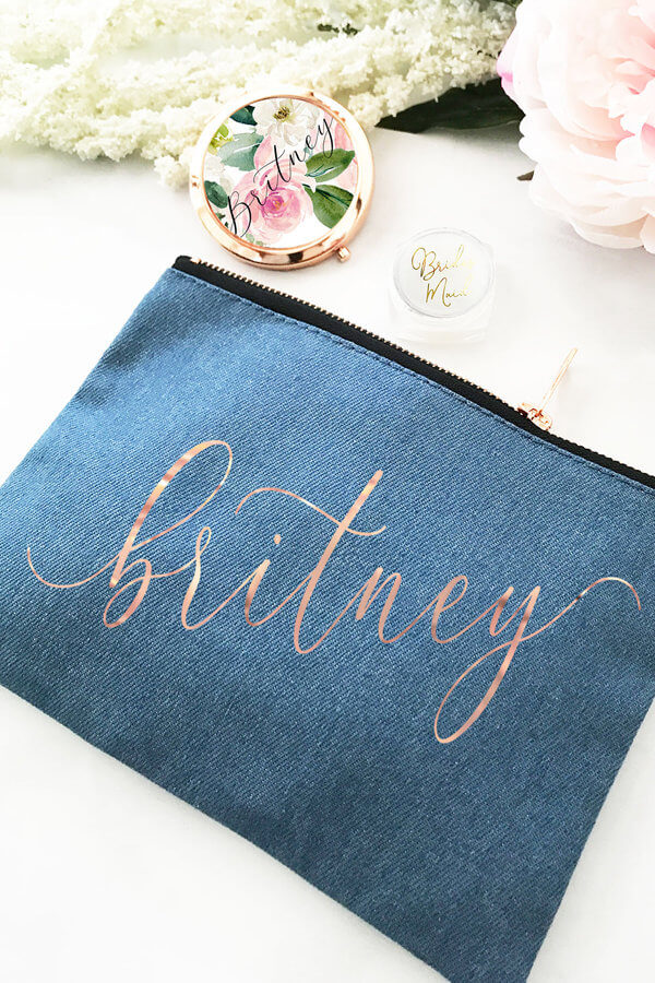 bbfd3057fdf6 Custom Name Canvas Cosmetic Bags