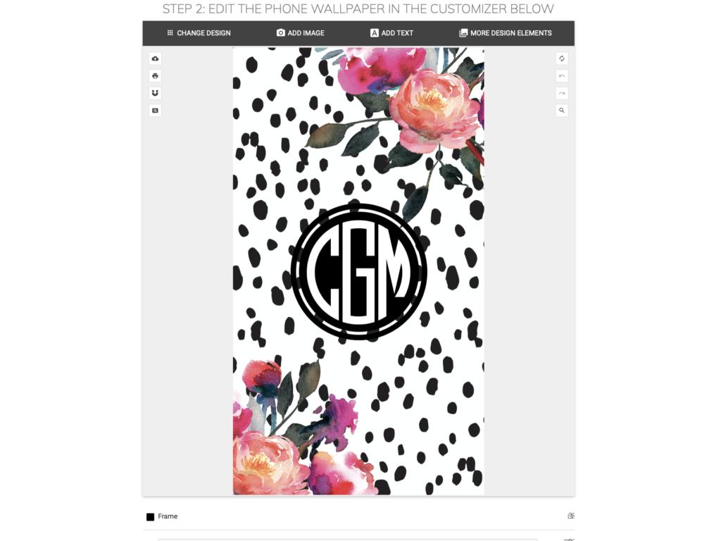 How to Make Monogram Phone Wallpaper