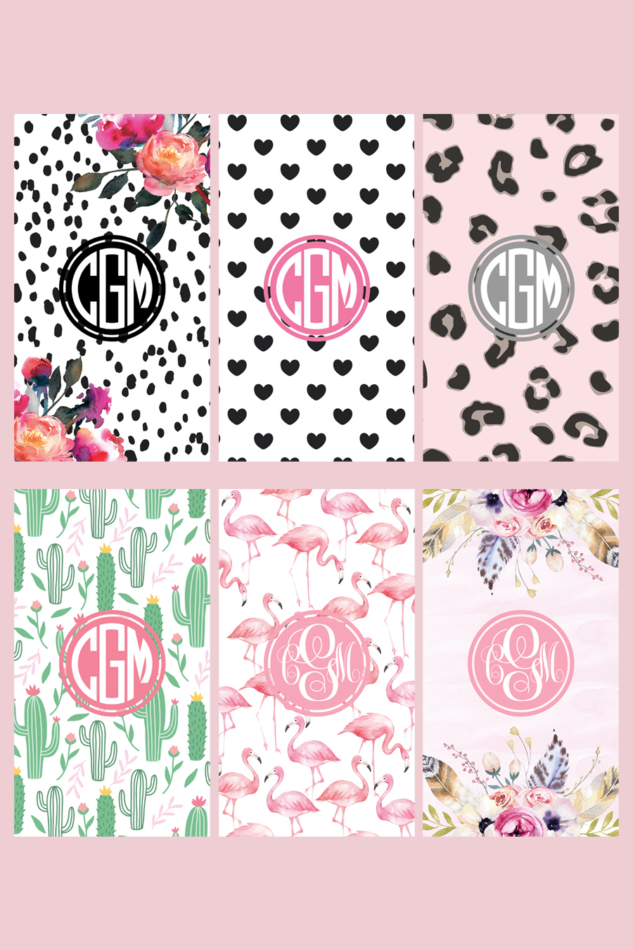 How To Make Monogram Phone Wallpaper Chicfetti