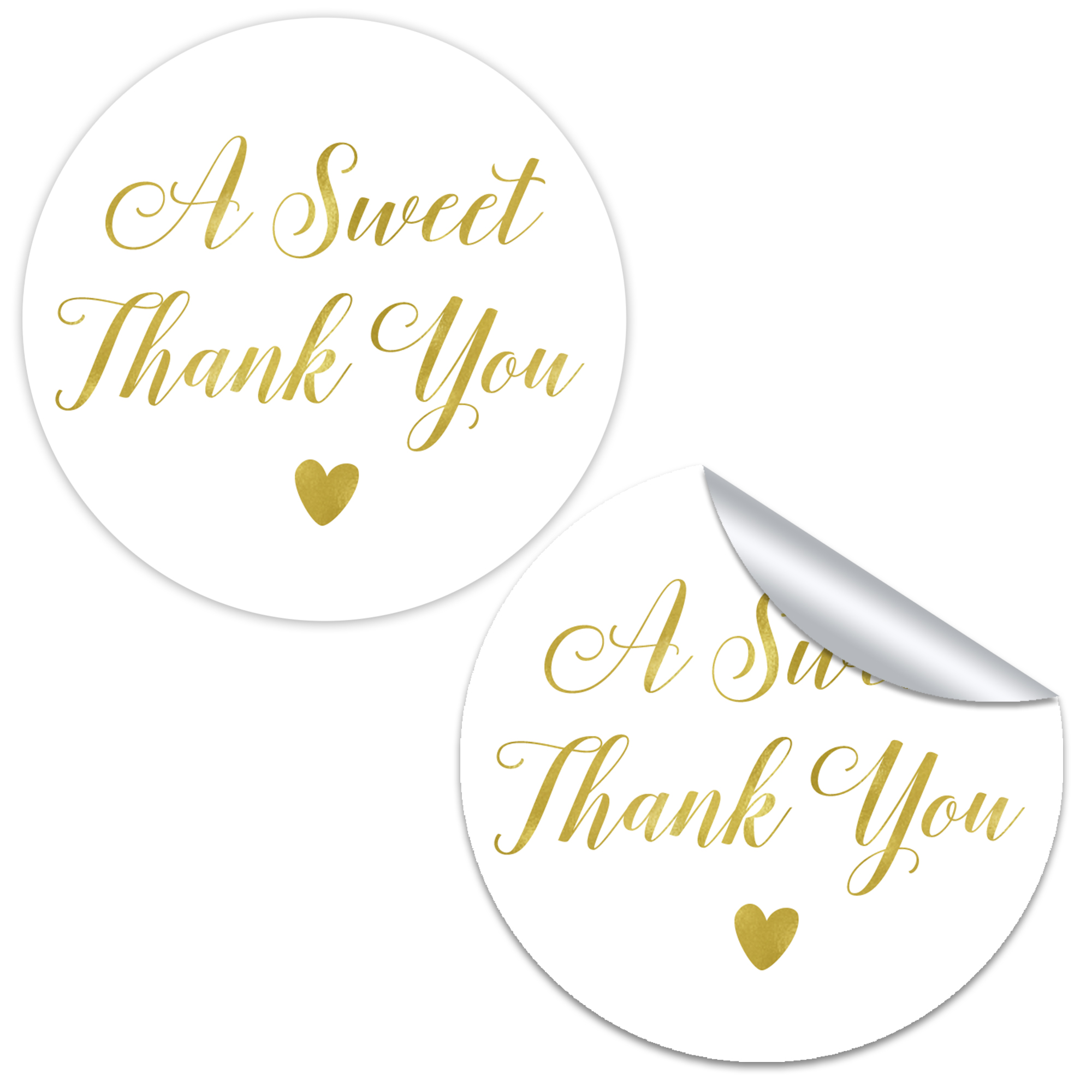 A Sweet Thank You Favor Stickers Chicfetti